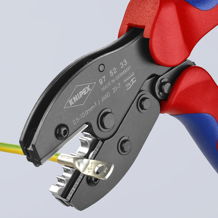 KNIPEX PreciForce Crimping Pliers non-insulated crimp terminals, tube and compression cable lugs and non-insulated crimp, butt and press connectors