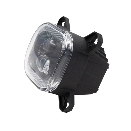 Nolden NCC Avego LED main headlight with daytime running and position lamp, black-gloss, O shape, pair